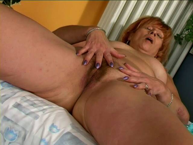 Excited granny Gentlewoman stripping dismal panties and fingering her sensitive grasp