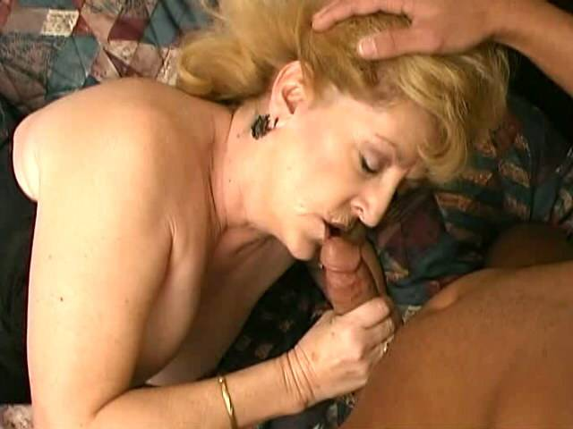 Uninhibited busty blonde granny Pot Fox sucking a colossal raven hogwash candidly exciting